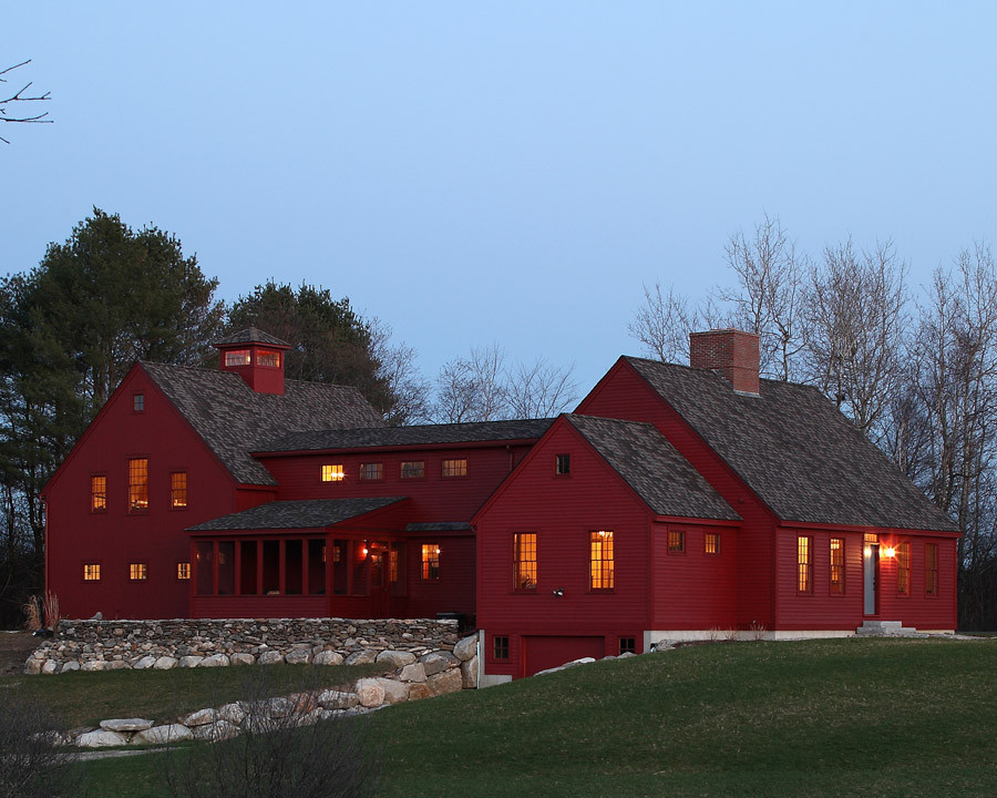 Red cape for Building a house in maine